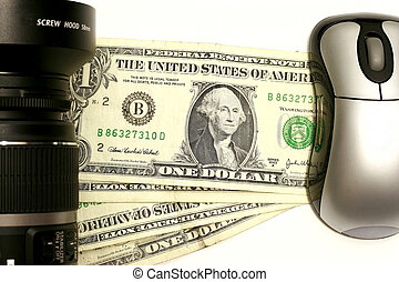 Money Maker II - Camera with mouse in a dollar concept for...