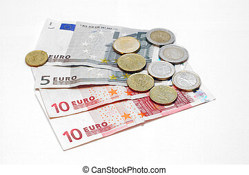 Money makes the world go around, Euro - Copy space provided....