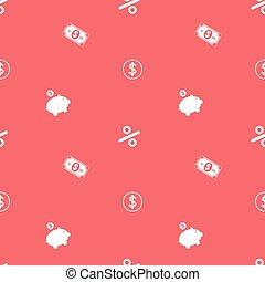 Money Making Symbols Seamless Financial Pattern