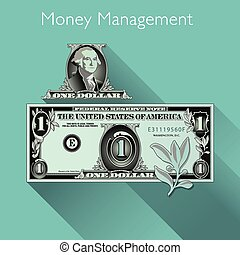 Money Management background with Space for Type