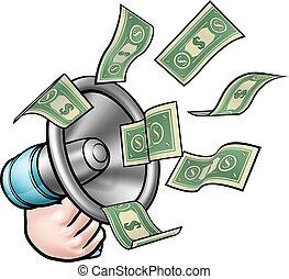 Money Megaphone Concept