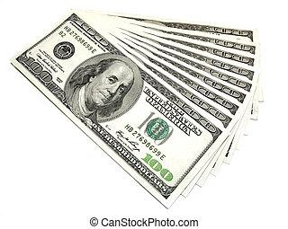 Money, money, money... - A money background close up
