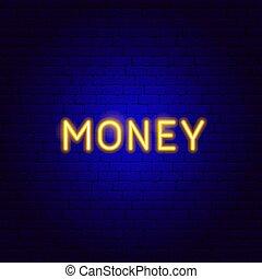 Money Neon Text
