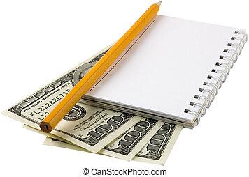 Money, notebook 3