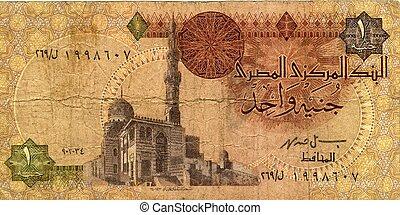 Money of Egypt, 1 pound issued 1990. Sultan al-Ashraf ...