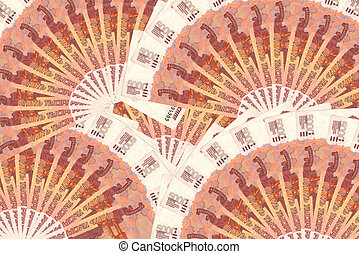Money of Russia. 5000 roubles. Background