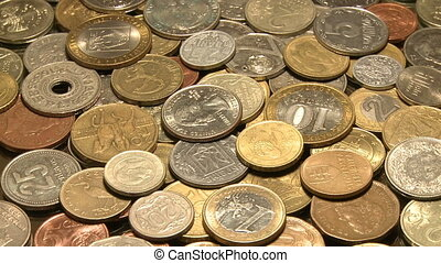 Money of the world - Coins from different countries of the...
