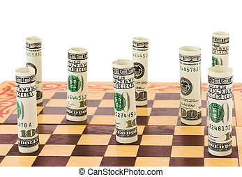 Money on chess board