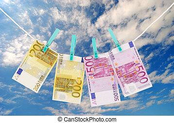 Money on the clothesline