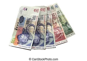 Money on white