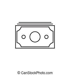 Money outline icon