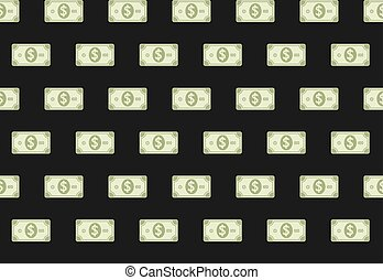 Money Paper Banknote Financial Seamless Pattern