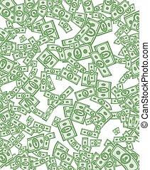 Money pattern. Money background from dollars