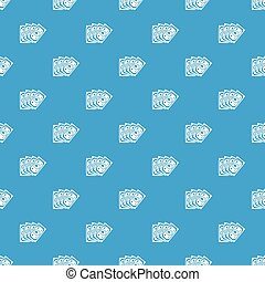 Money pattern vector seamless blue repeat for any use