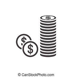 Money penny icon