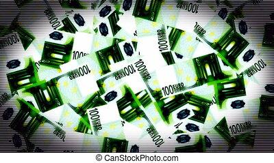 Money Pile Euro Looping Background