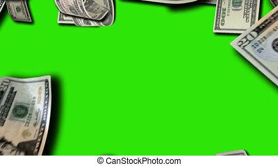 Money pre keyed transition shot clip