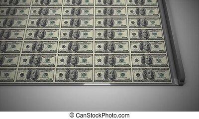 Money printing - Printing the dollar.
