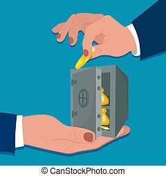 Money protection concept, vector illustration