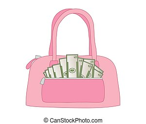 money purse - a vector illustration in eps 10 format of a...