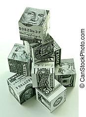 Money pyramid-financial concept