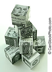 Money pyramid-financial concept of accumulation and...