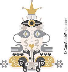 Money Pyramid - vector icon - Financial Pyramid - abstract...