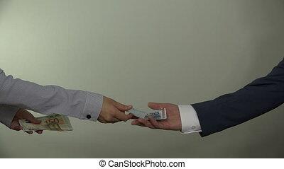 Money racket extortion. 4K - Money racket extortion. Man in...