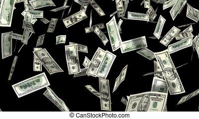 money rain 3d animation