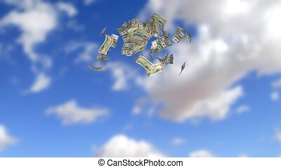 money rain - animation of a dollar rain