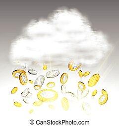 Money rain, vector illustration