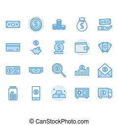Money related icon and symbol set