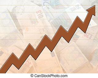 Money rise chart