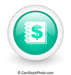 money round glossy web icon on white background