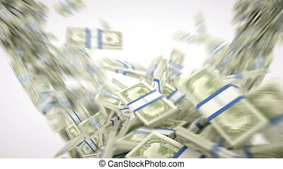 money:, ruch, powolny, dolar, gotówka
