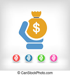 Money sac icon