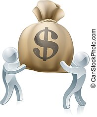Money sack people
