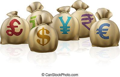 Money sacks