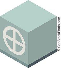Money safe icon, isometric style - Money safe icon....