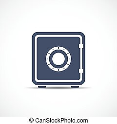 Money safe vector icon