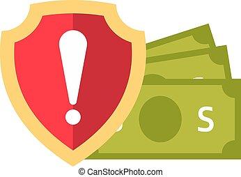 Money safety vector illustration