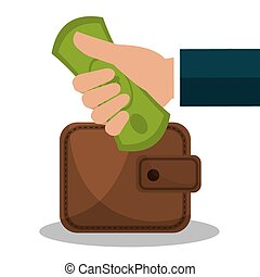 Money savings graphic design, vector illustration eps10