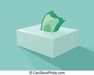 Money Savings Tissue Holder Illustration