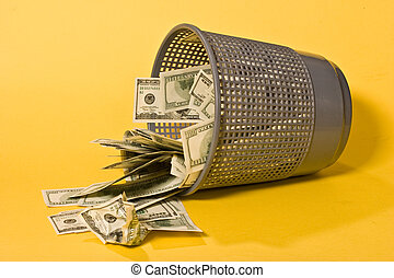 thrown out money