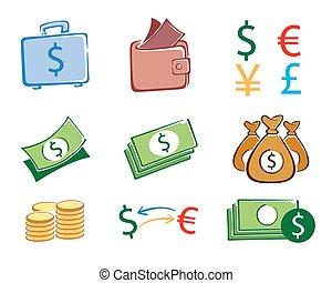 Money set color