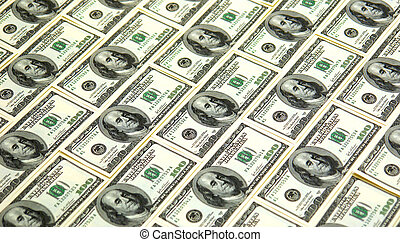 money sheet - background image of 100 dollar bills filling...