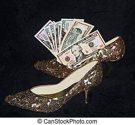 Money shoes.
