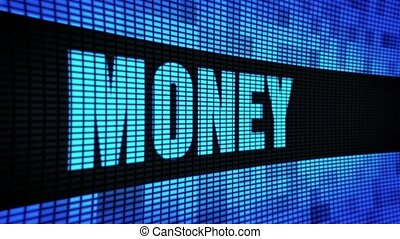 Money Side Text Scrolling LED Wall Pannel Display Sign Board