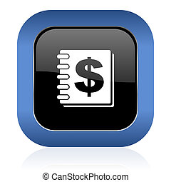 money square glossy icon