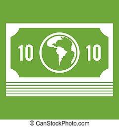 Money stack icon green